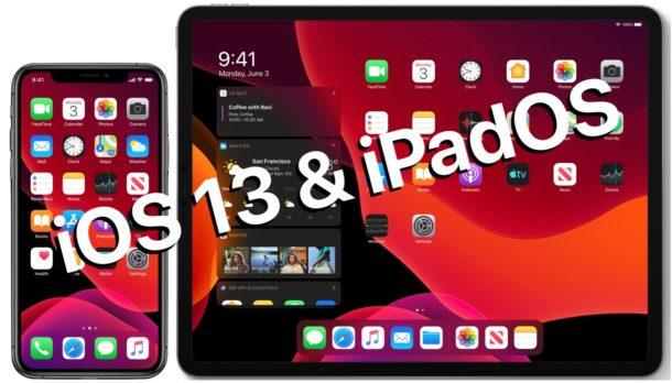 iOS 13 e iPadOS