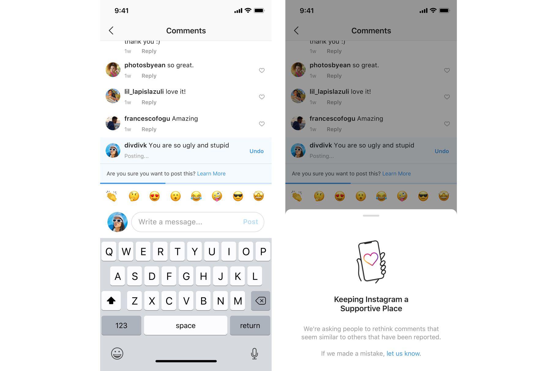 Instagram testerà una funzione estremamente utile per difendersi dal cyberbullismo 2