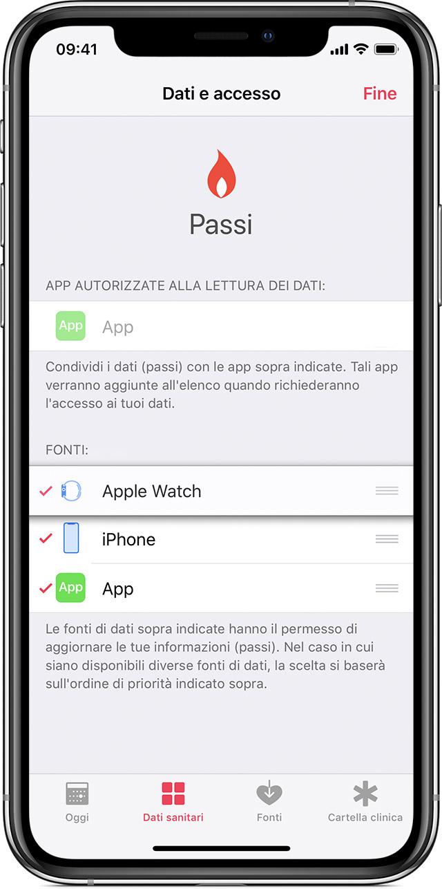 Come dare priorità ai dati su Apple Salute provenienti da iPhone, Apple Watch o altre app 2