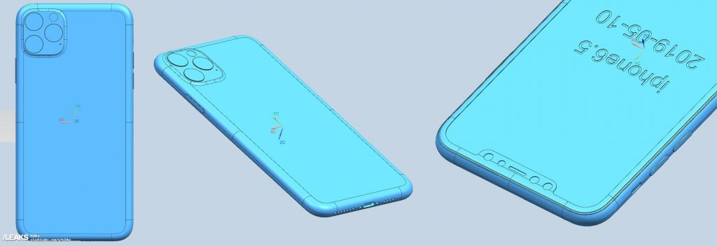 In Rete i disegni CAD di iPhone XI, iPhone XI Max e iPhone XIR 1