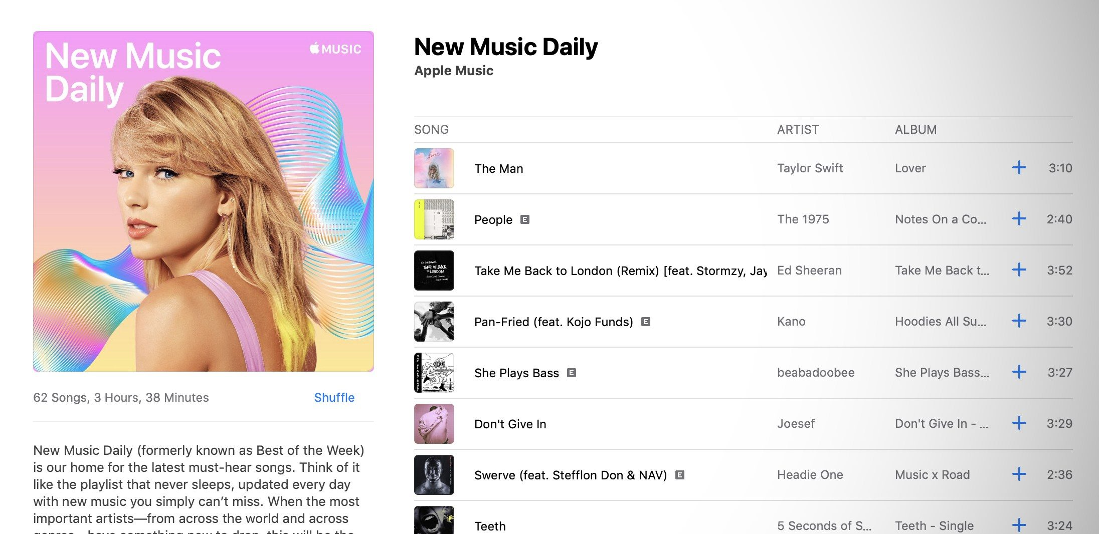 Apple Music New Music Daily