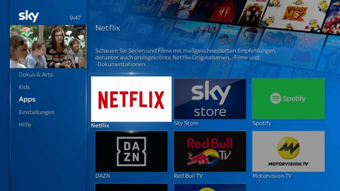 Sky Q Germania Netflix
