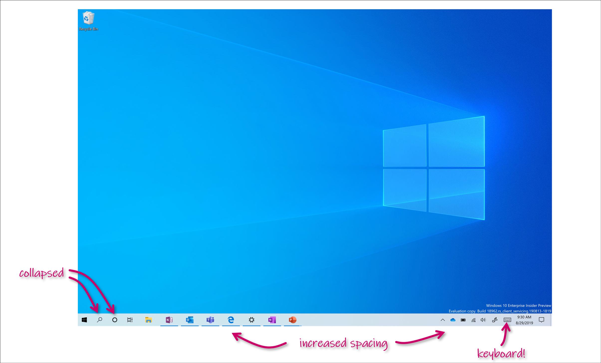 Il nuovo aggiornamento nel Fast Ring di Windows 10 (20H1) rivoluziona la modalità tablet 1