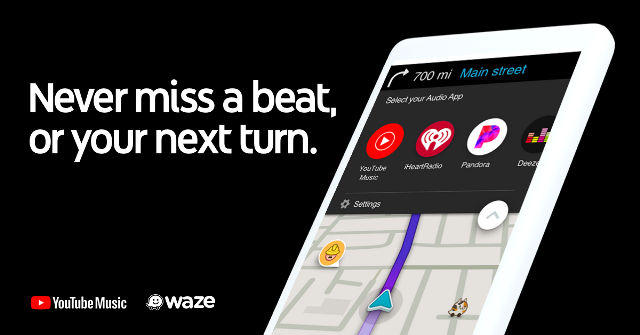 YouTube Music integrazione Waze