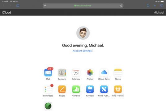iCloud beta web app