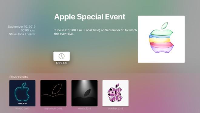 Apple Events Apple TV