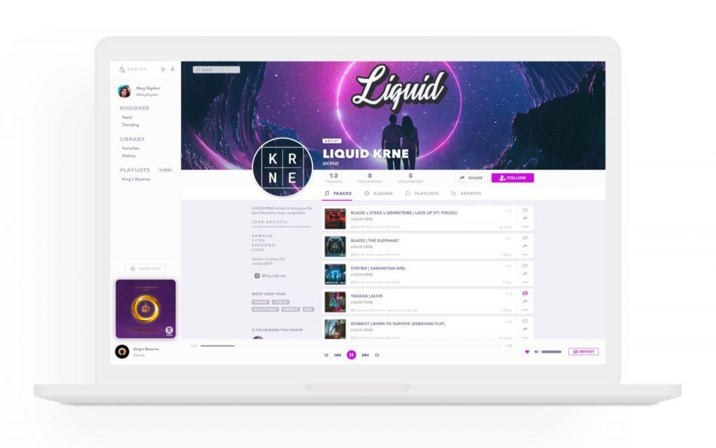 Audius servizio streamung musicale blockchain