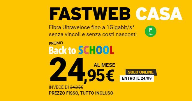 """Fastweb """"Back to School"""": offerte fibra con DAZN a partire da 24,95 euro 1"""