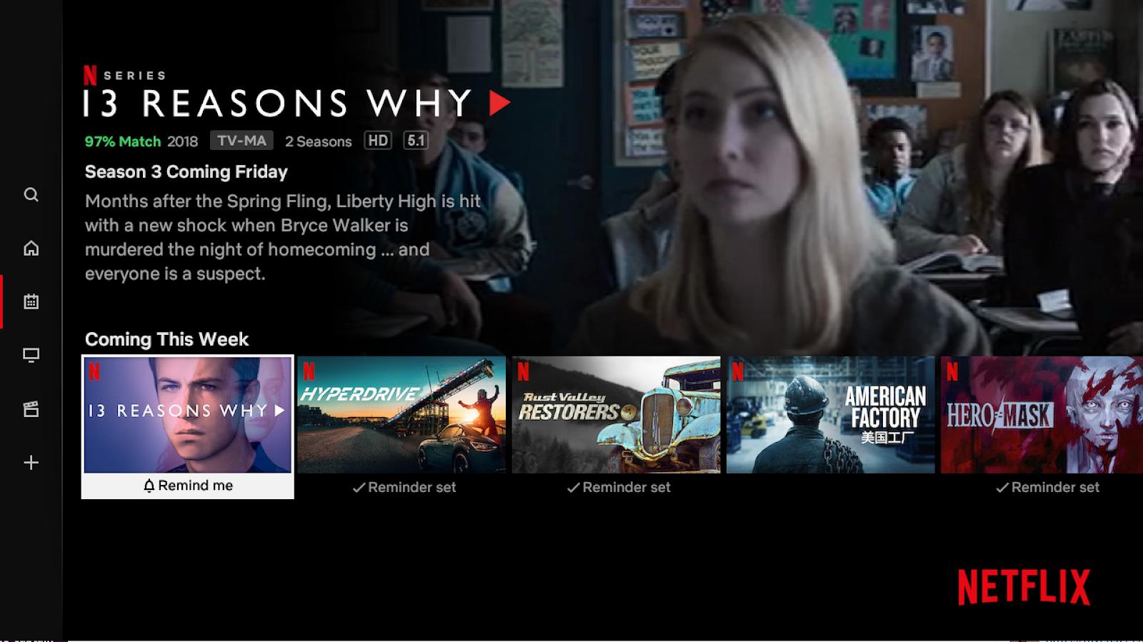 Netflix In arrivo questa settimana