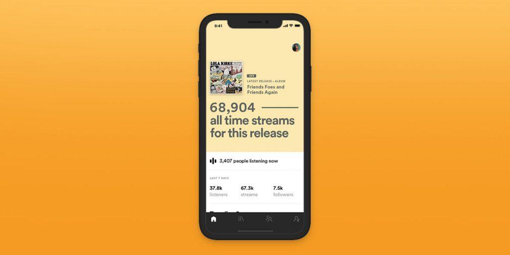 Spotify introduce le statistiche in tempo reali per gli artisti 2