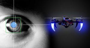 Drone pilotato con lo sguardo test in Sardegna