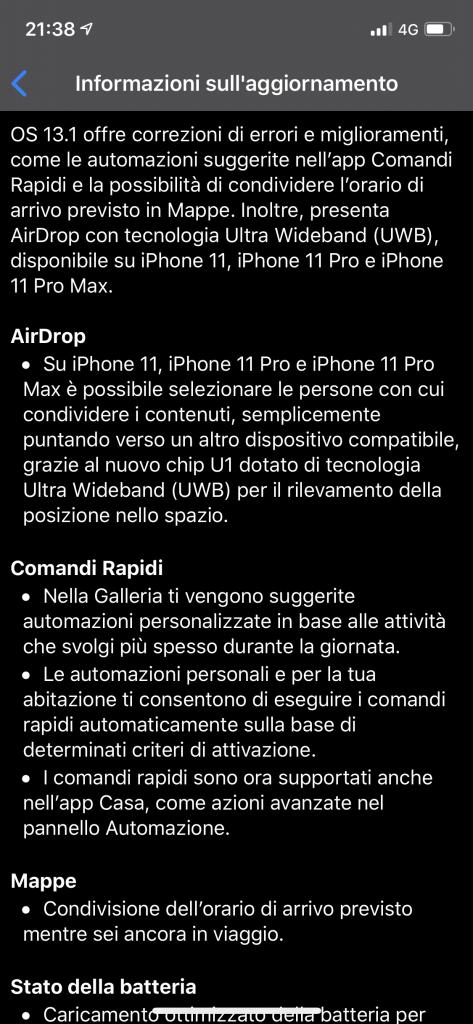 iOS 13.1 rilasciato ufficialmente da Apple 2