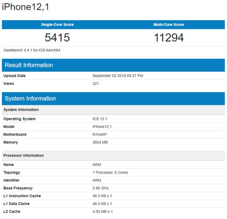 iPhone 11 mostra i muscoli su GeekBench con il nuovo A13 Bionic e più RAM 1