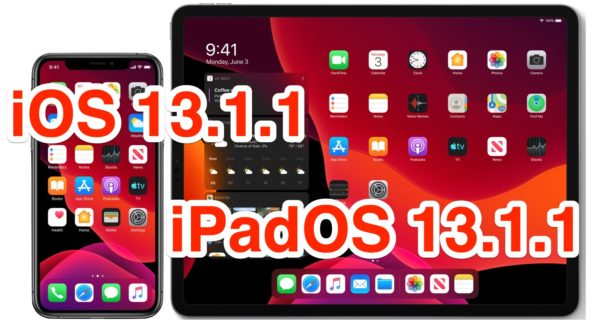 iOS 13.1.1 e iPadOS 13.1.1 disponibili al download: in arrivo tanti bugfix