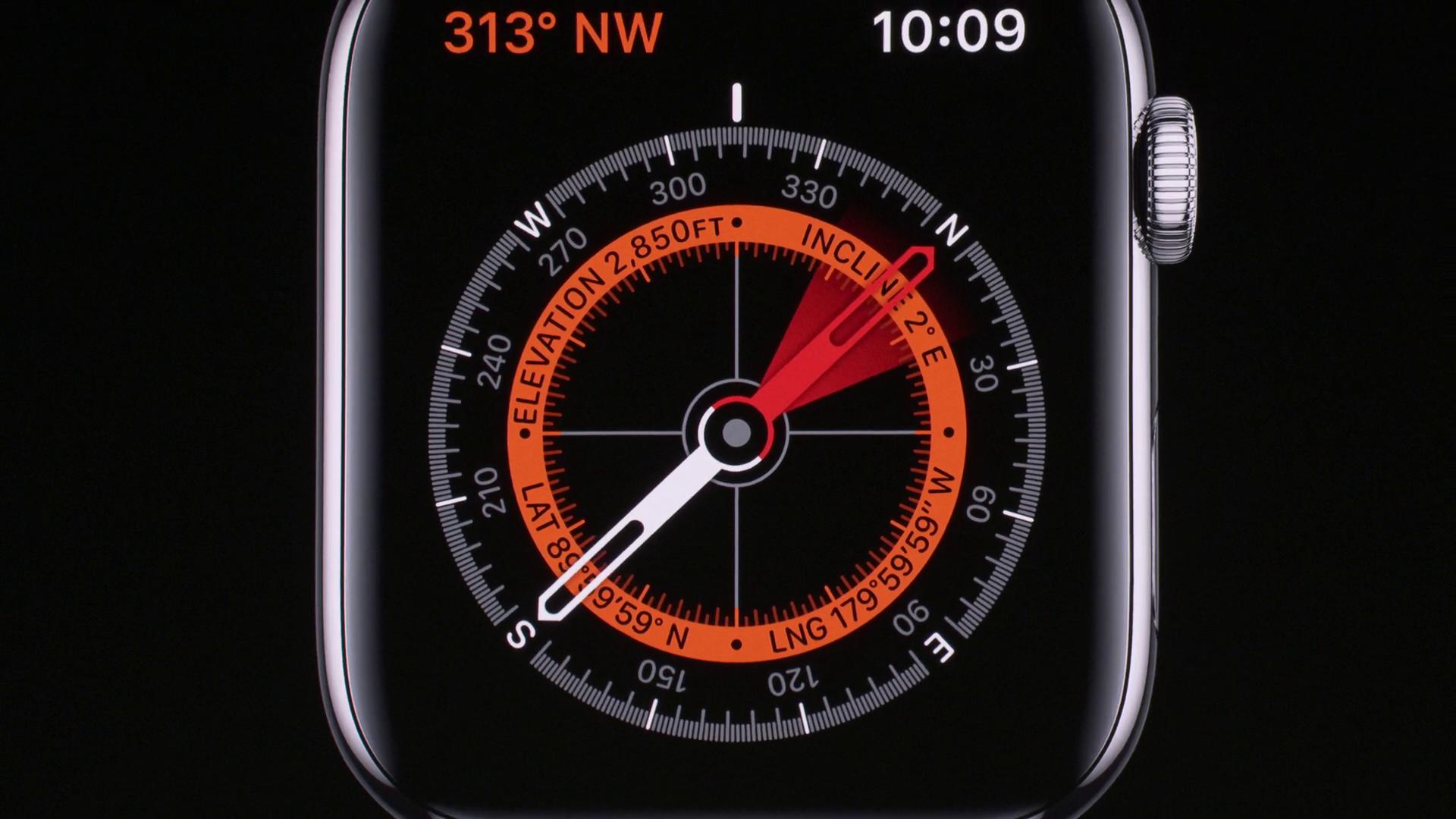 Bussola Apple Watch 5