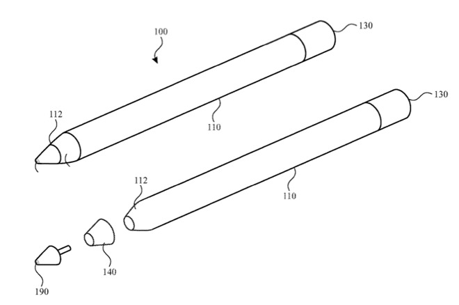 Apple Pencil con display LED brevetto