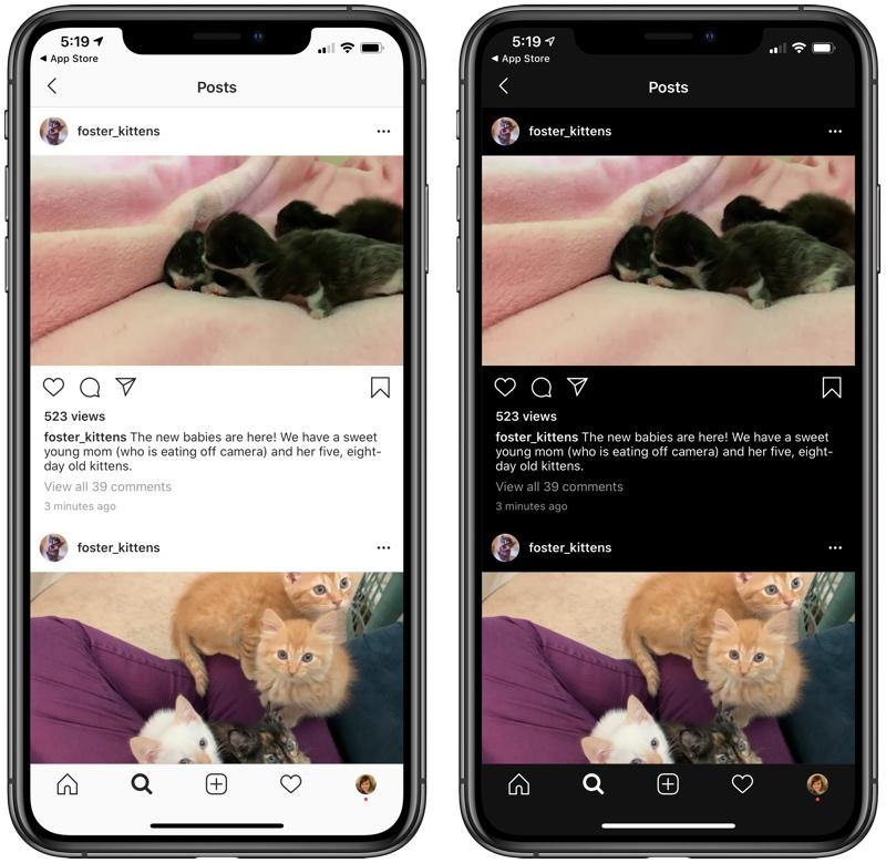 Dark Mode su Instagram è ufficiale