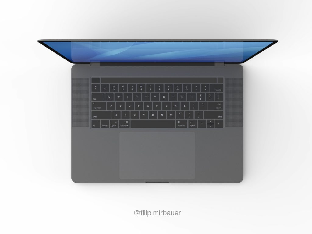 "MacBook Pro da 16"" avrà un nuovo layout per la touch bar 3"