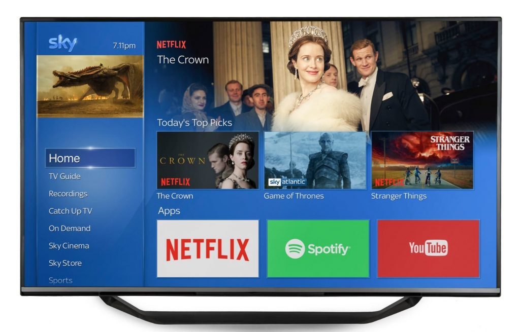 Netflix su Sky Q data disponibilità