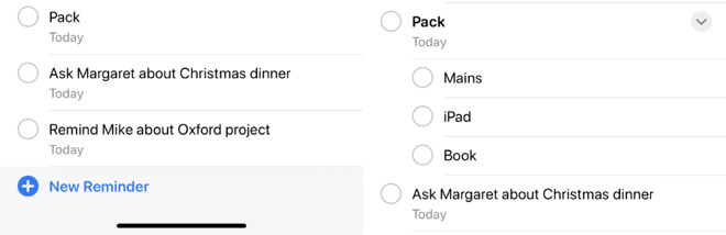 App Promemoria liste