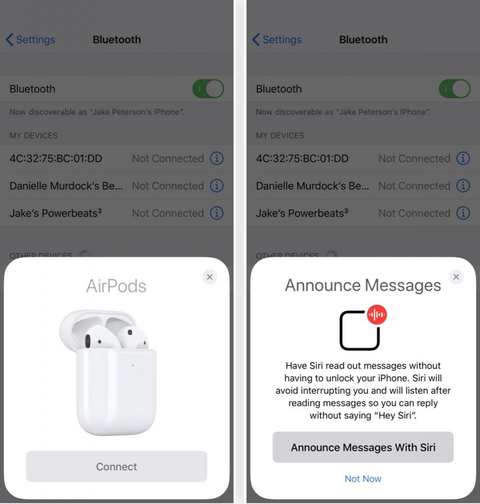 soluzione far leggere i messaggi da Siri sugli AirPods con iOS 13.2