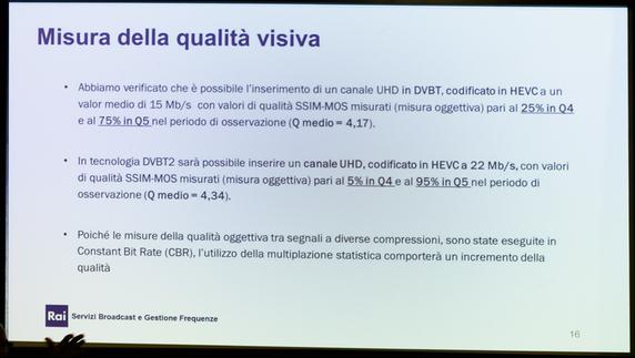 Misura della qualità visiva DVB-T2