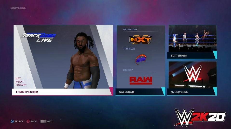 WWE 2K20 Universe Mode