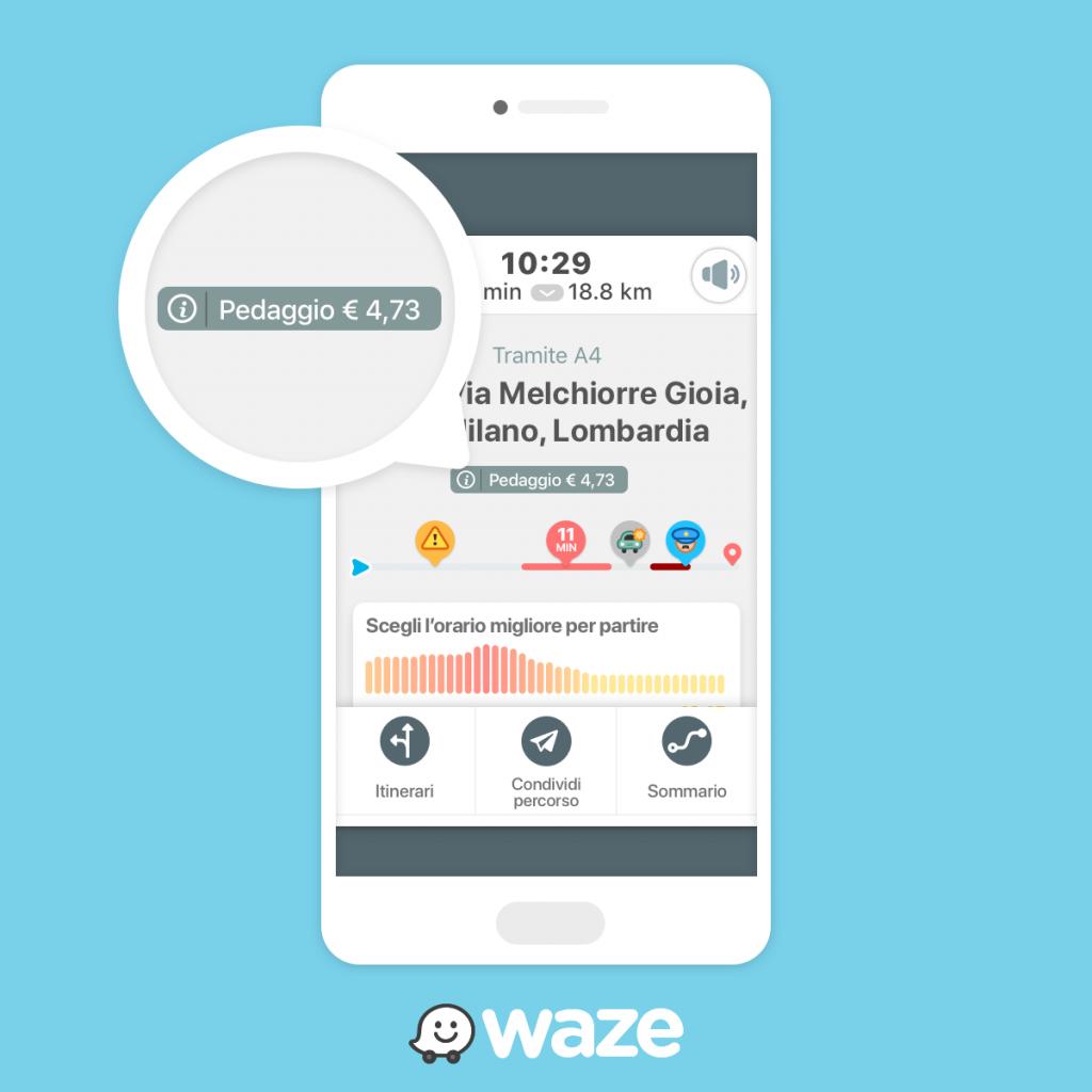 Costo Pedaggio di Waze