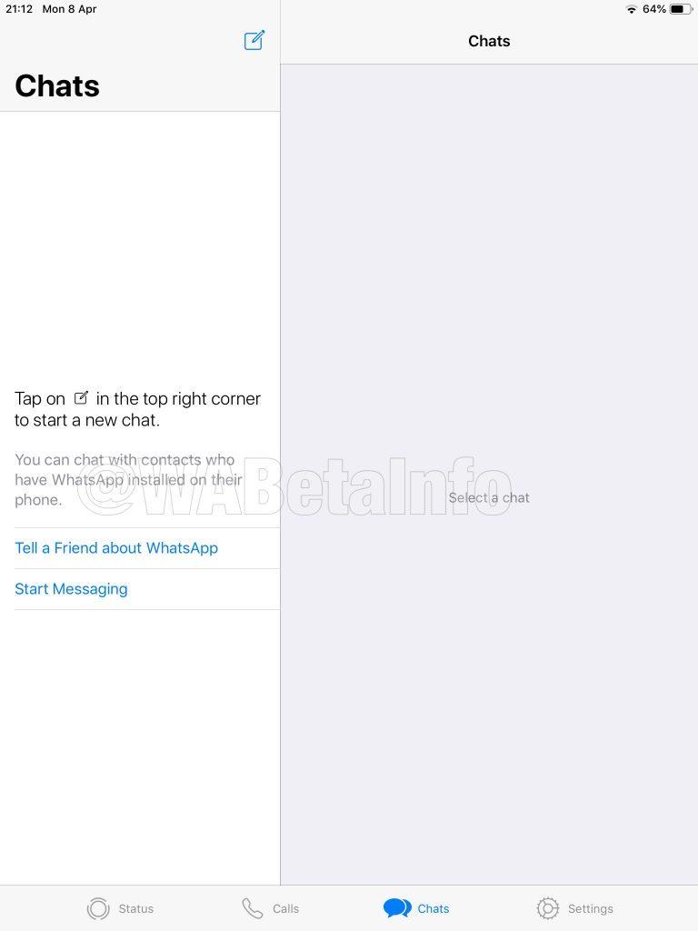 WhatsApp su iPad: presto potremo usare l'app di messaggistica sui tablet Apple, e non solo 2