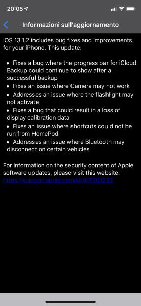 Apple rilascia iOS 13.1.2, iPadOS 13.1.2 e watchOS 6.0.1 2