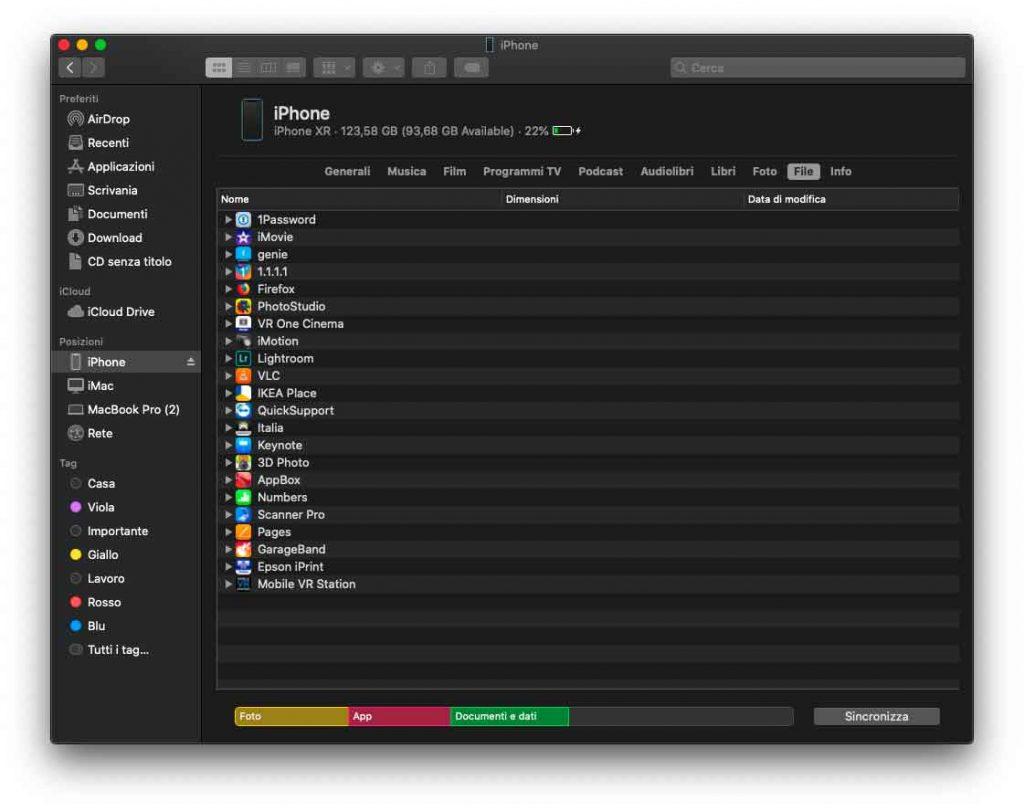 macOS 10.15 Catalina: cosa c'è di nuovo nel Finder e nelle Preferenze di Sistema 5