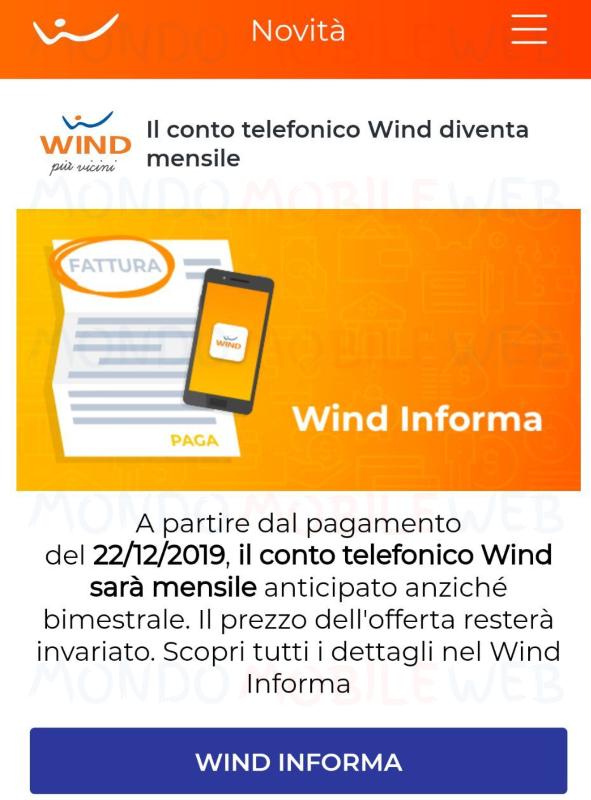 Rimodulazioni Wind rete fissa Dicembre