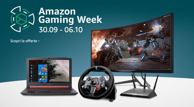 Amazon Gaming Week dal 30 Settembre al 6 Ottobre