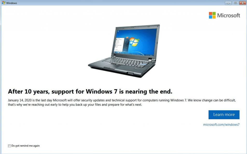 Dopo 10 anni finisce il supporto a Windows 7 Pro. Dal 2020 basta aggiornamenti 1