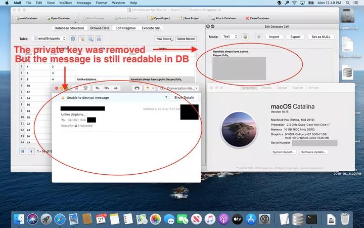 vulnerabilità email criptate macOS