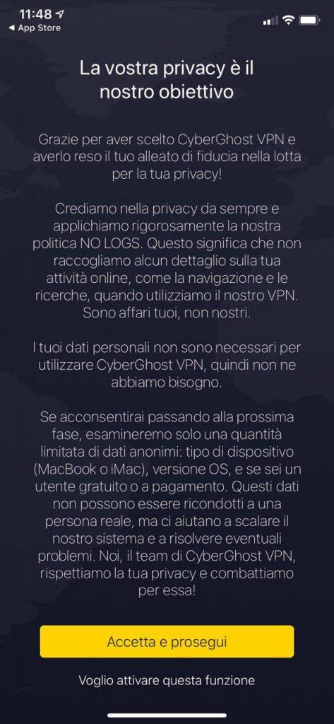 CyberGhost VPN iphone ipad ios