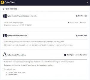 impostazioni CyberGhost VPN su PC