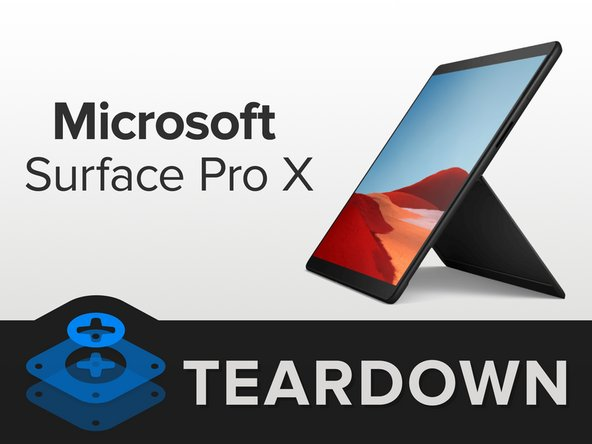 Microsoft surface pro x teardown ifixit