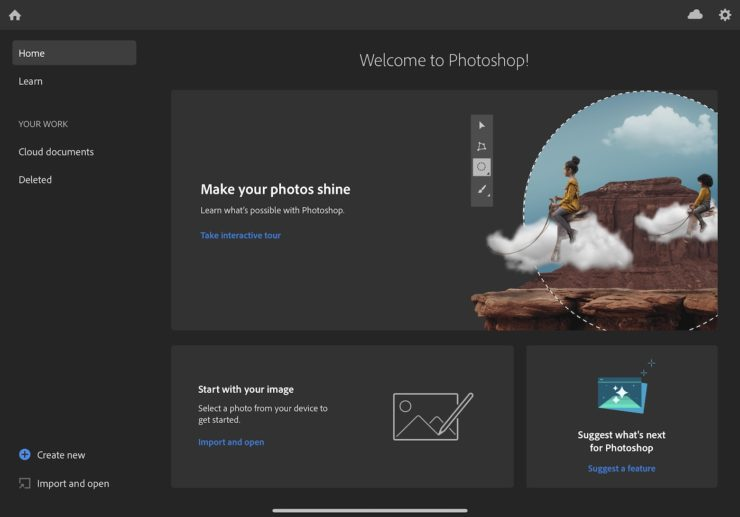 Adobe Photoshop per iPad