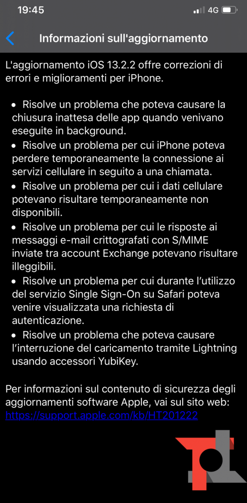 Apple rilascia iOS 13.2.2 e iPadOS 13.2.2: app in background sistemate (e non solo) 2