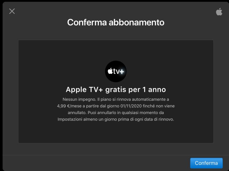 Come attivare l'abbonamento gratuito a Apple TV+ e cosa fare in caso di problemi 2