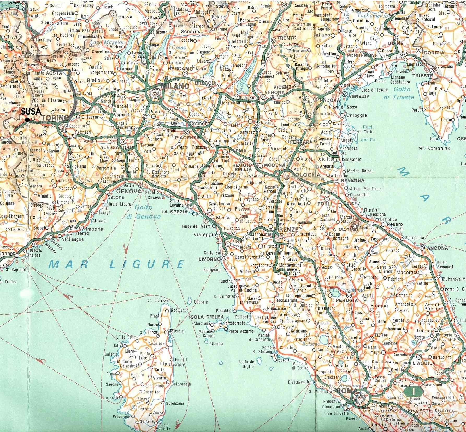 Cartina Stradale Sardegna Nord Ovest.Embargo Cronică Ornament Italia Mappa Stradale Amazon Mariacastrojato Com