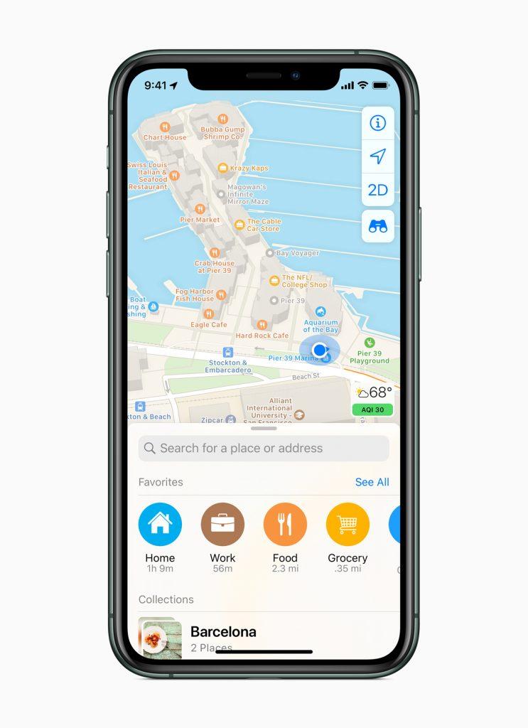 Apple lancia la nuova app Mappe completamente ridisegnata 4