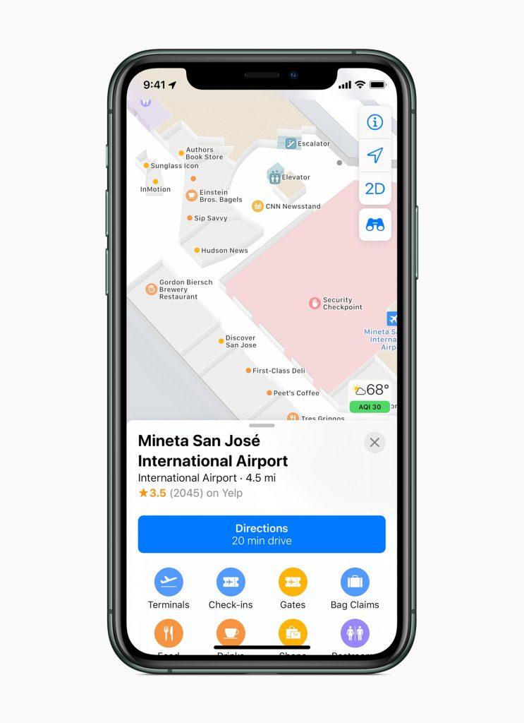 Apple lancia la nuova app Mappe completamente ridisegnata 5