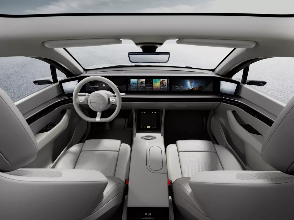 Sony sorprende al CES con il concept di un'auto elettrica dal nome Vision S 6