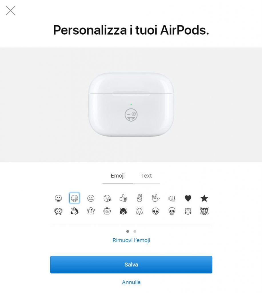 A corto di idee regalo? Da oggi potete personalizzare le vostre AirPods incidendo...un'emoji! 1
