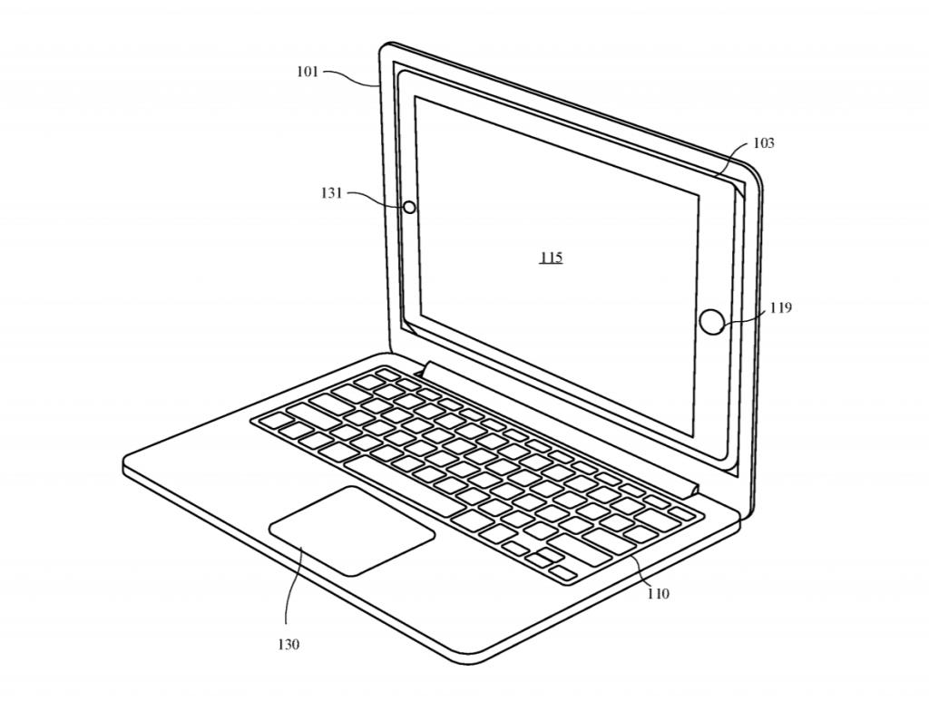 il brevetto di un iPad all'interno di un MacBook