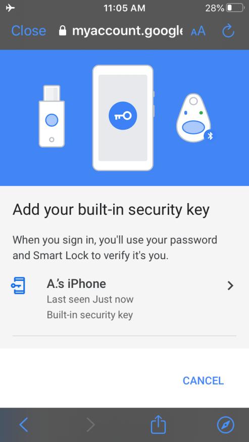 Da oggi potete usare il vostro iPhone come chiave sicura per l'autenticazione a 2 fattori di Google 2