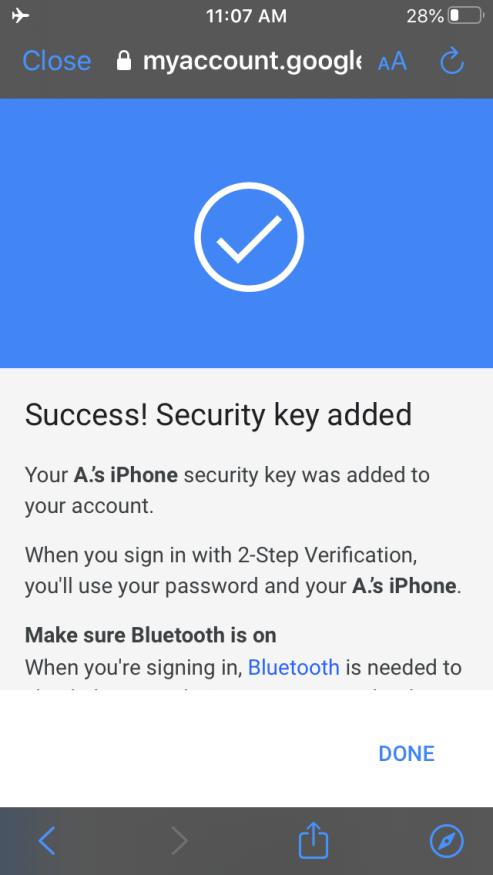 Da oggi potete usare il vostro iPhone come chiave sicura per l'autenticazione a 2 fattori di Google 3
