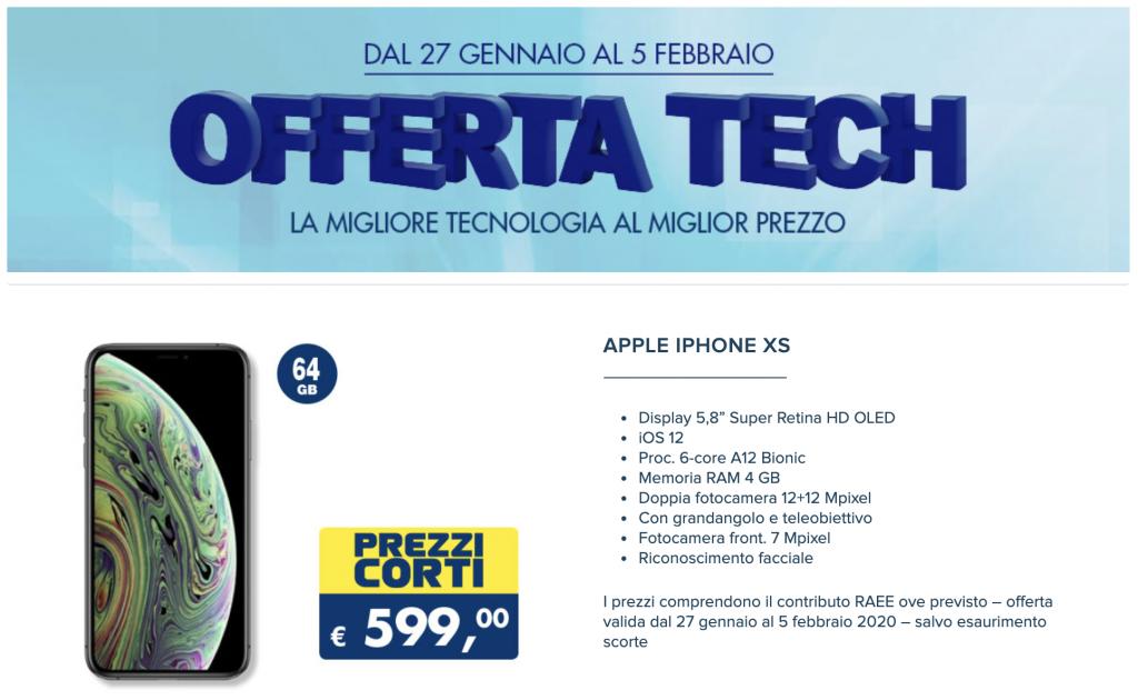 iPhone XS in super offerta da Esselunga, fino al 5 febbraio 1